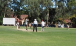 Darren McGlashan bowling to Sam Williams - Glandore Oval Past Players Game